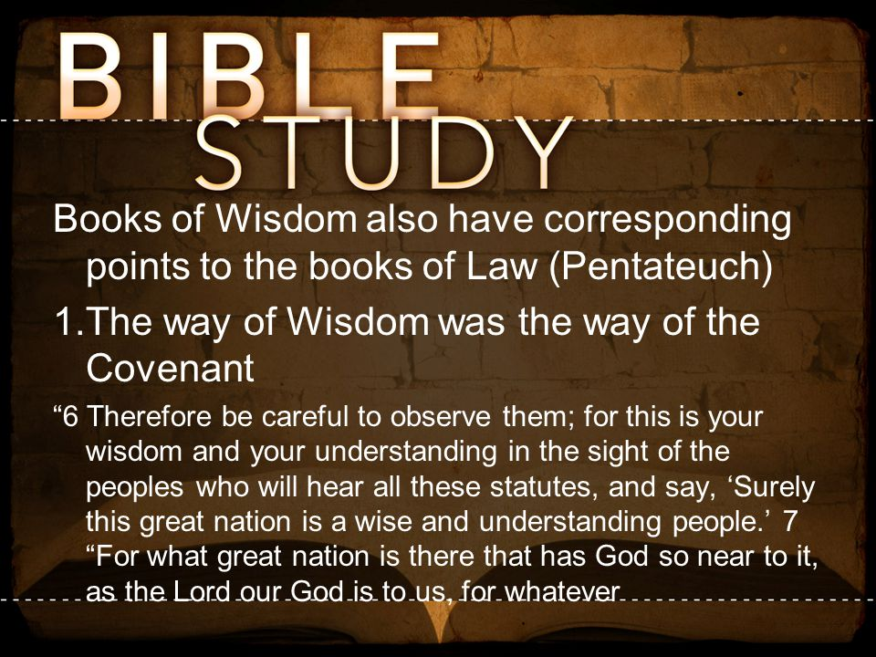 The way of Wisdom was the way of the Covenant