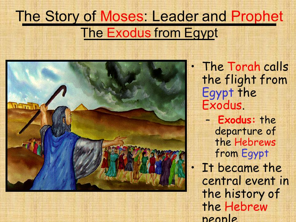 The Story of Moses: Leader and Prophet The Exodus from Egypt