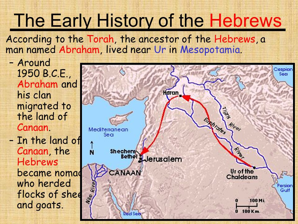 The Early History of the Hebrews