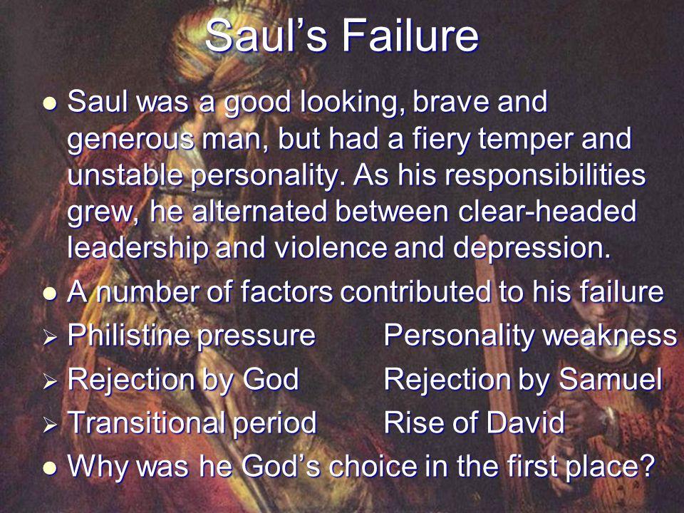 Saul's Failure