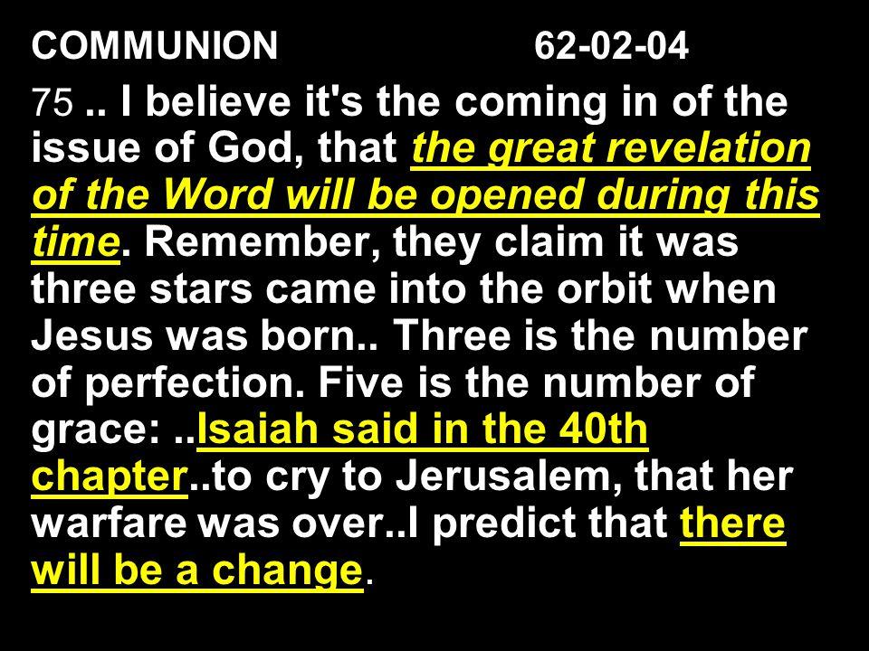 COMMUNION 62-02-04