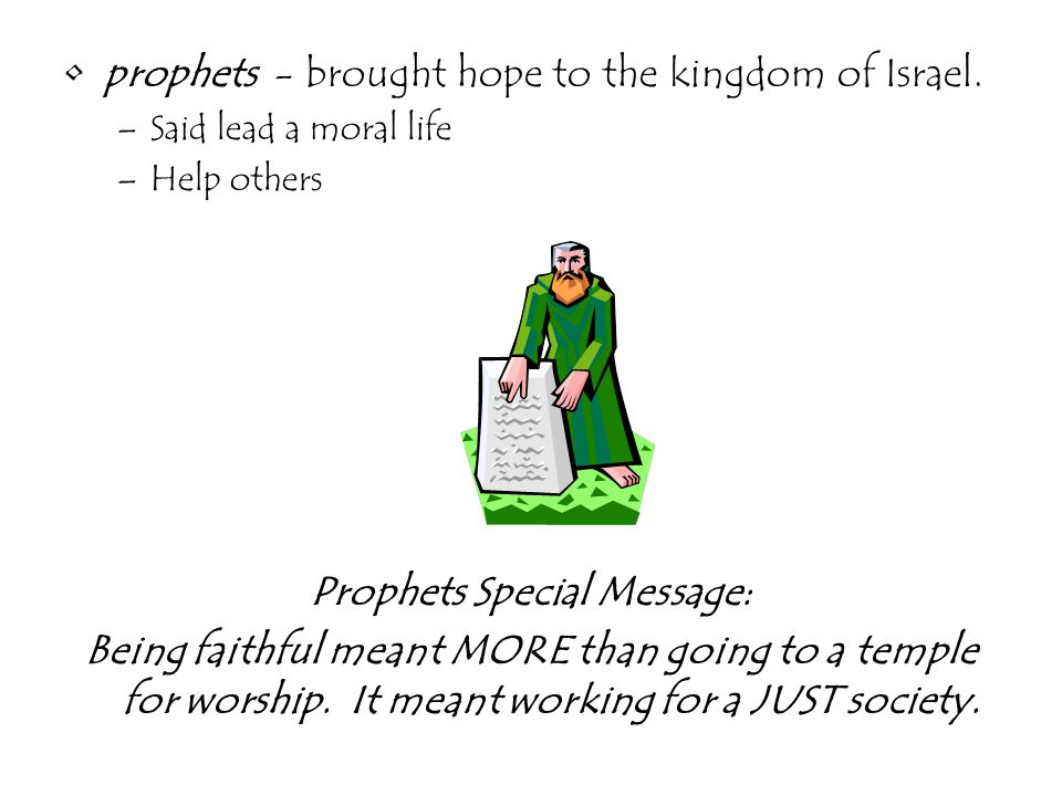 Prophets Special Message: