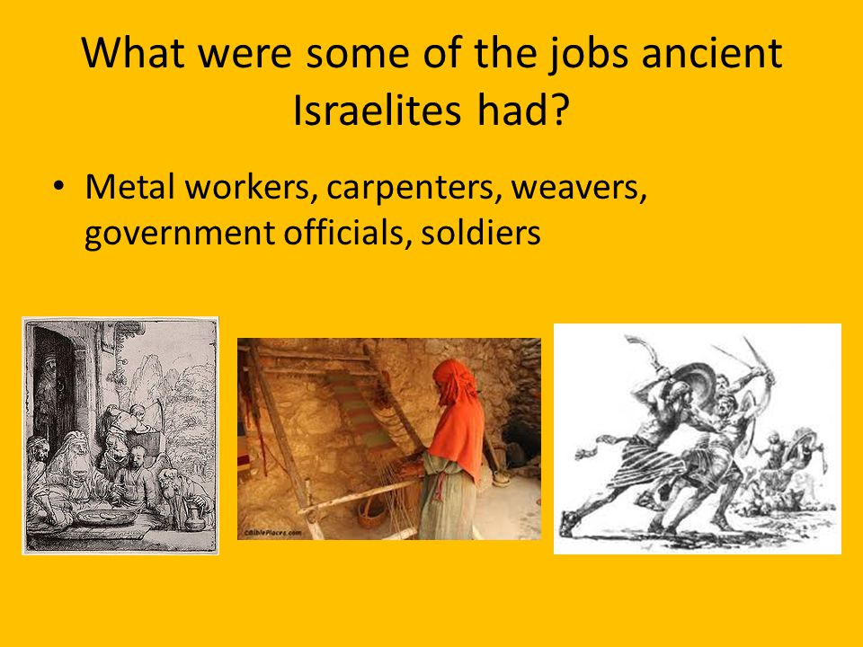 What were some of the jobs ancient Israelites had
