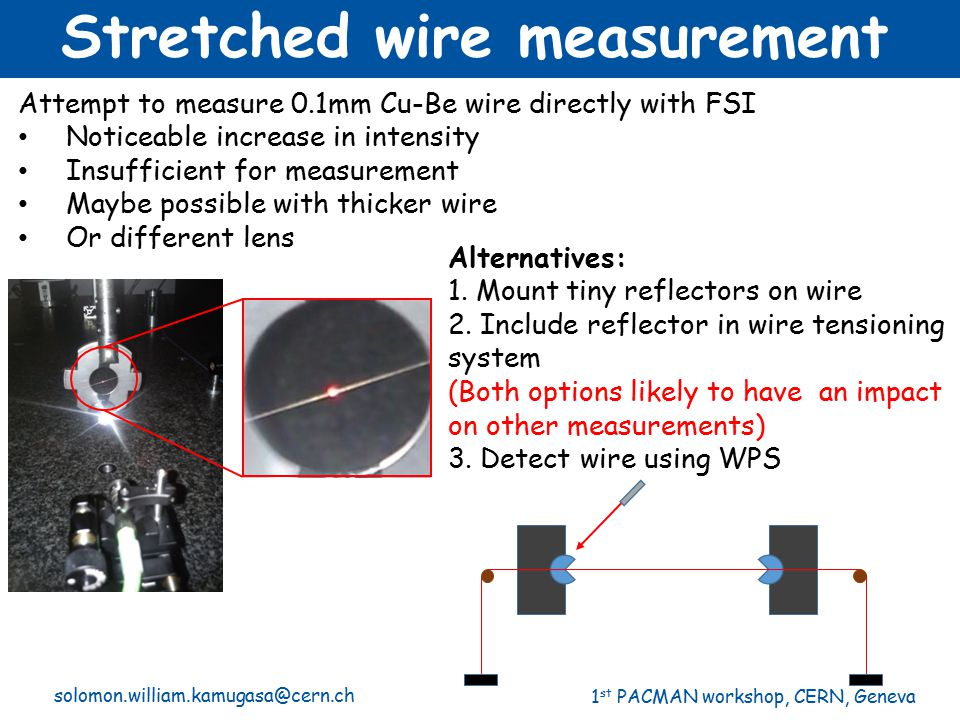 Stretched wire measurement
