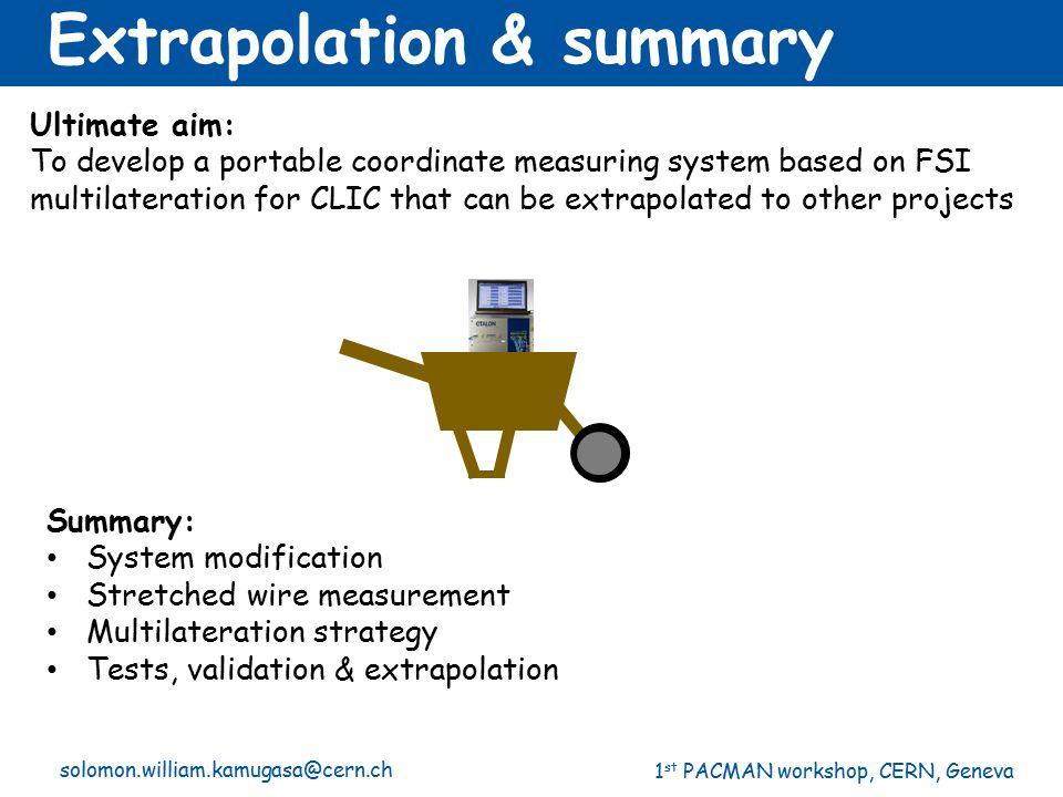 Extrapolation & summary