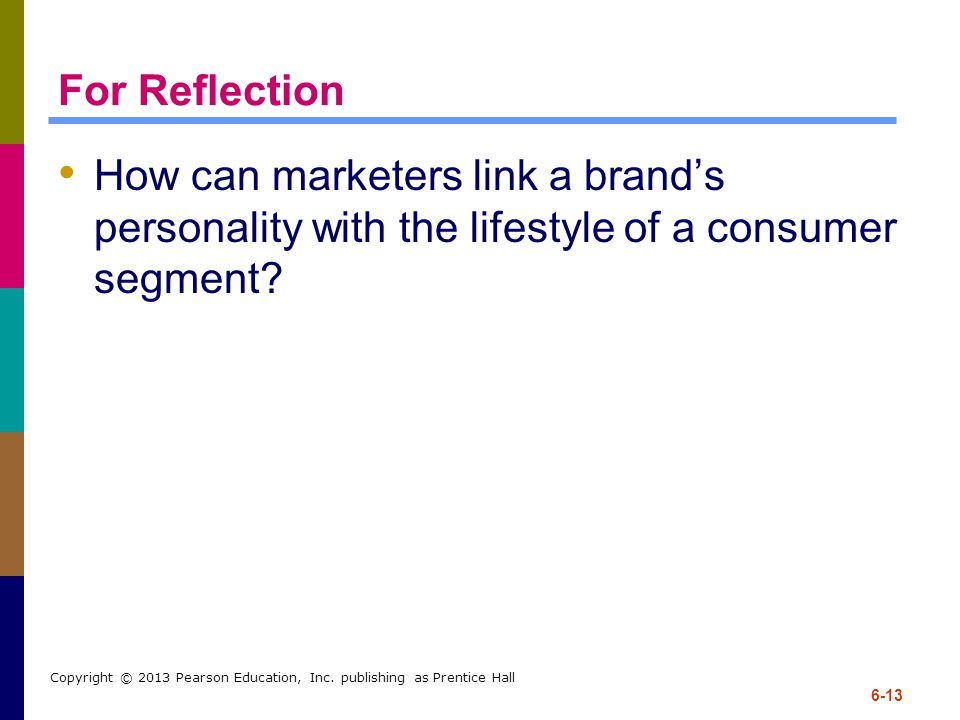 For Reflection How can marketers link a brand's personality with the lifestyle of a consumer segment