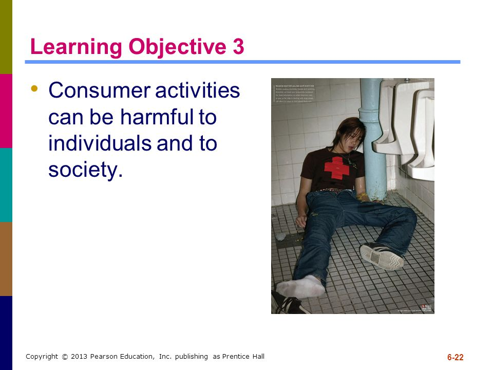 Consumer activities can be harmful to individuals and to society.