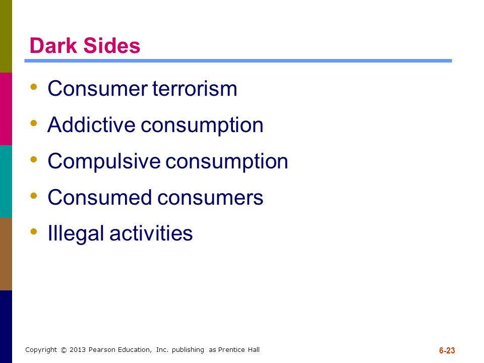 Addictive consumption Compulsive consumption Consumed consumers