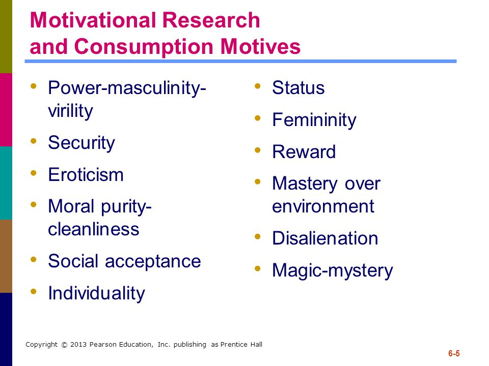 Motivational Research and Consumption Motives