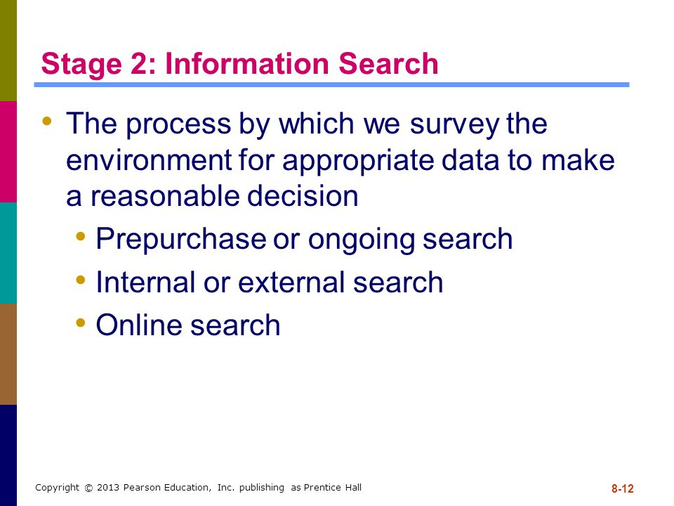 Stage 2: Information Search