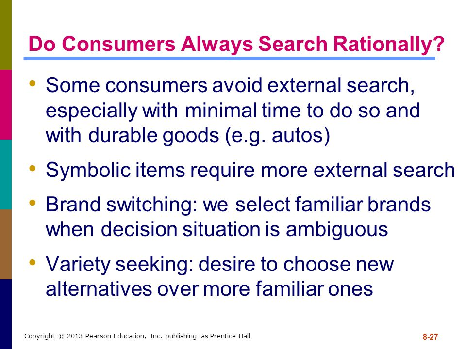 Do Consumers Always Search Rationally