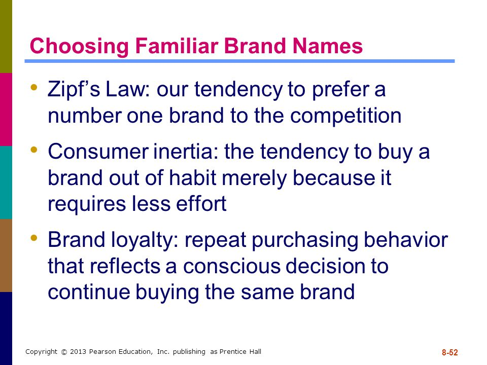 Choosing Familiar Brand Names