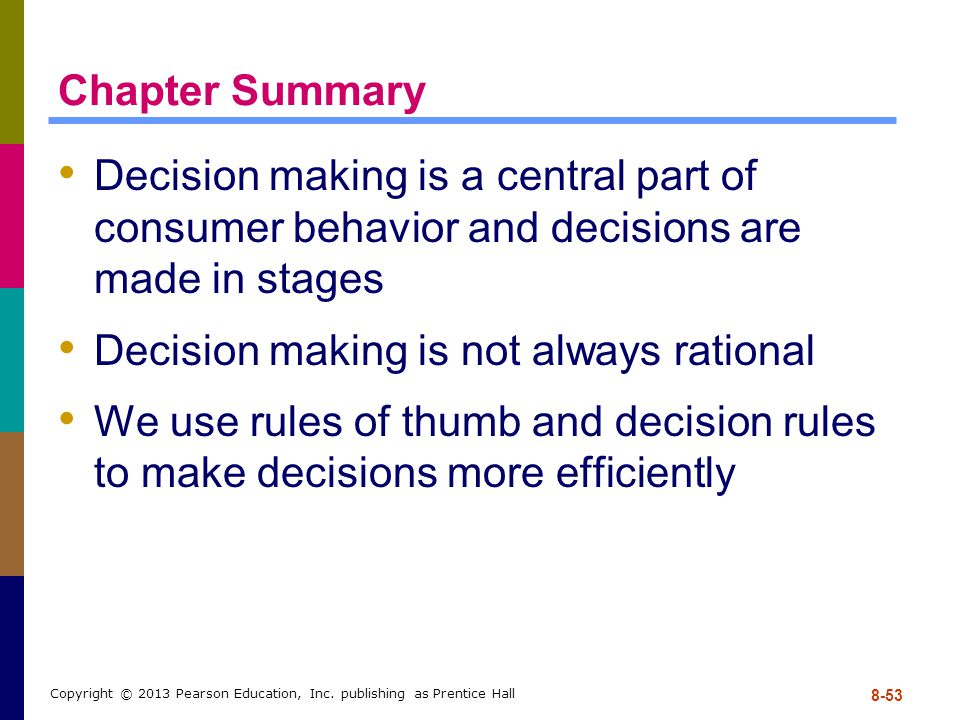 Decision making is not always rational