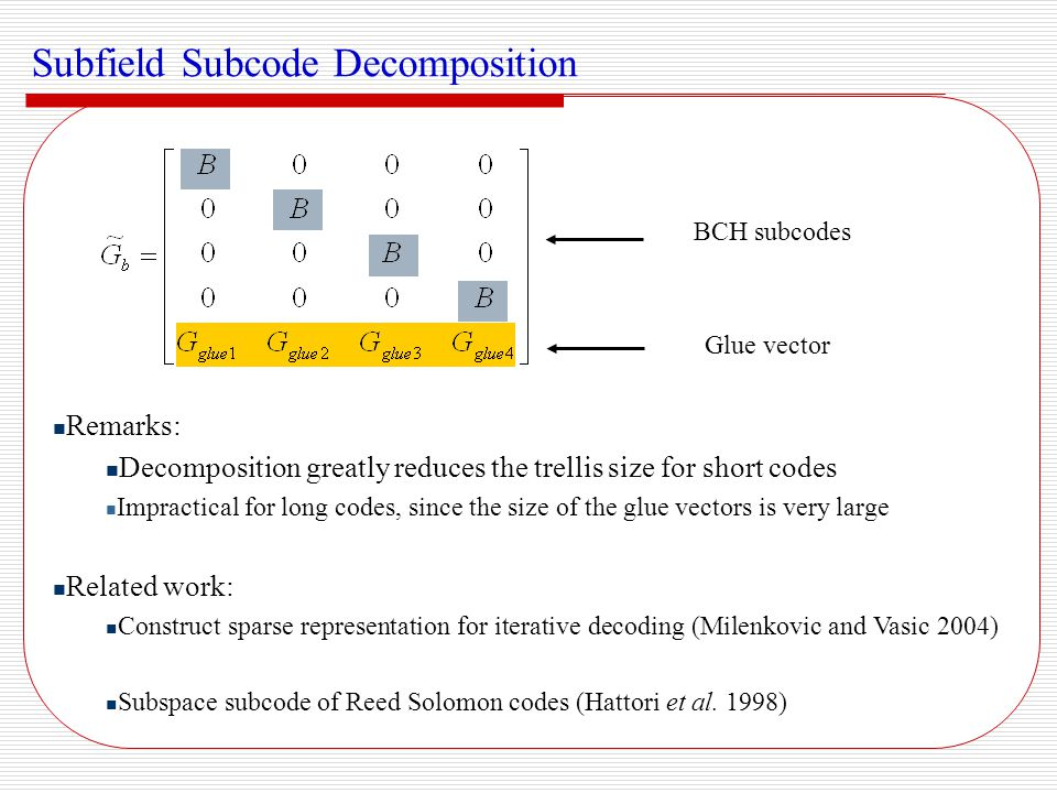 Subfield Subcode Decomposition