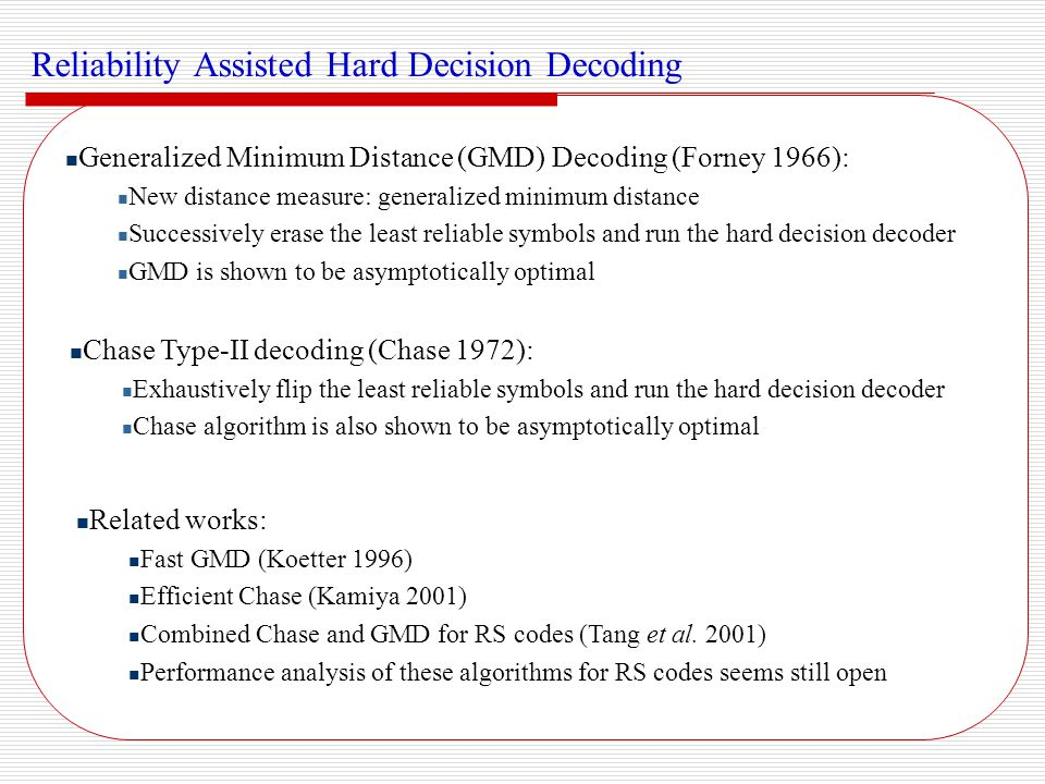 Reliability Assisted Hard Decision Decoding
