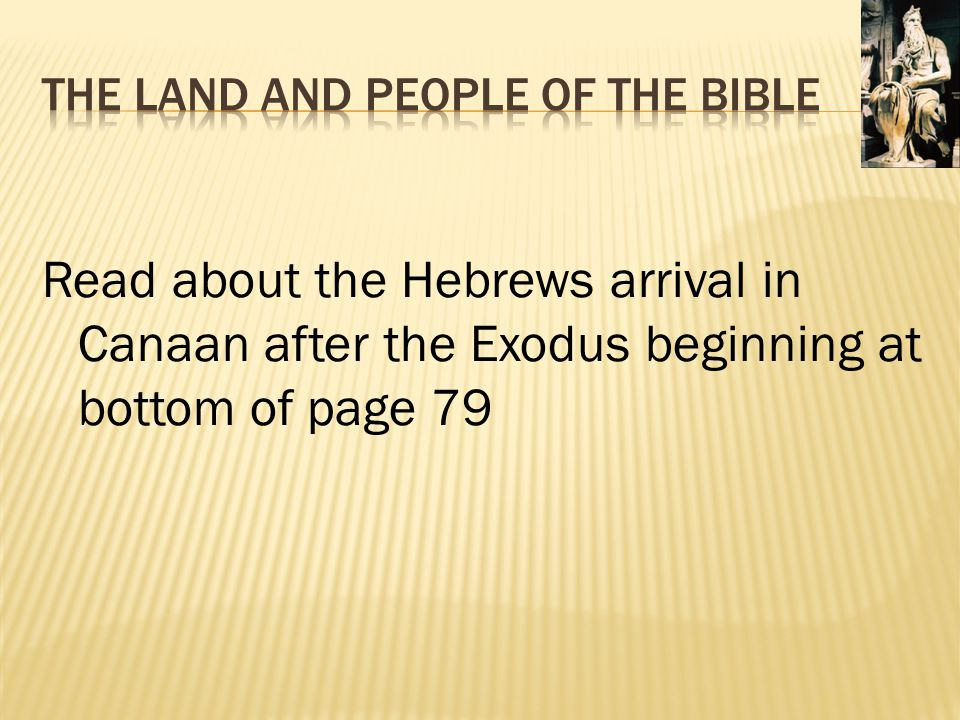 The Land and People of the Bible