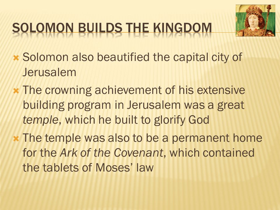 Solomon Builds the Kingdom