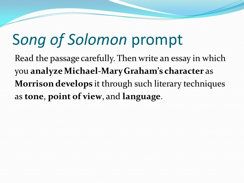 helping you write a better response to an ap prompt ppt  13 song of solomon