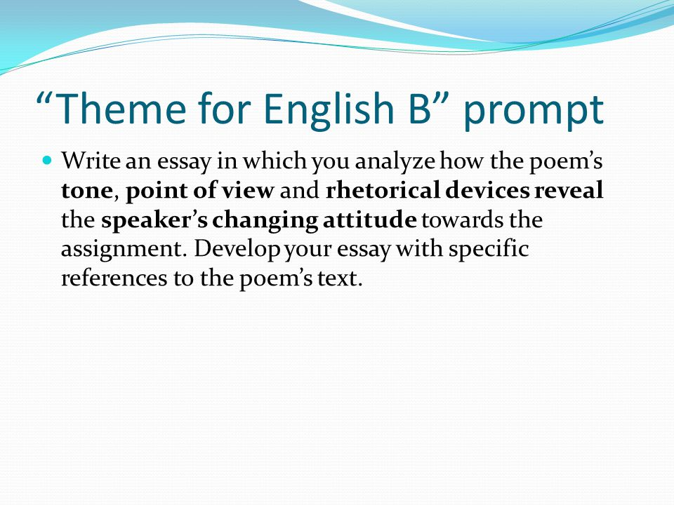 Beau Theme For English B Prompt