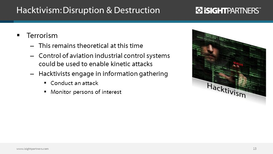 Hacktivism: Disruption & Destruction