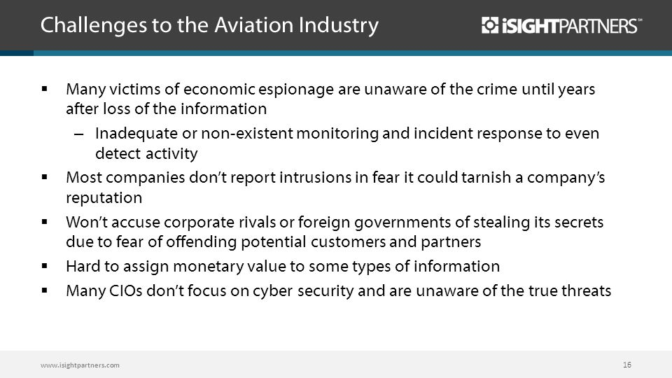 Challenges to the Aviation Industry
