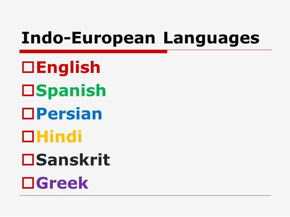 Indo-European Languages