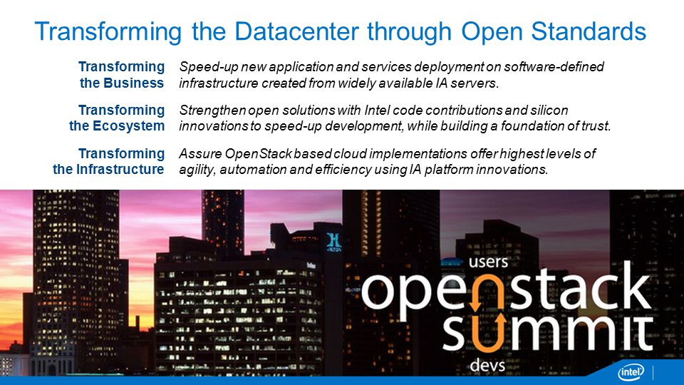 Transforming the Datacenter through Open Standards