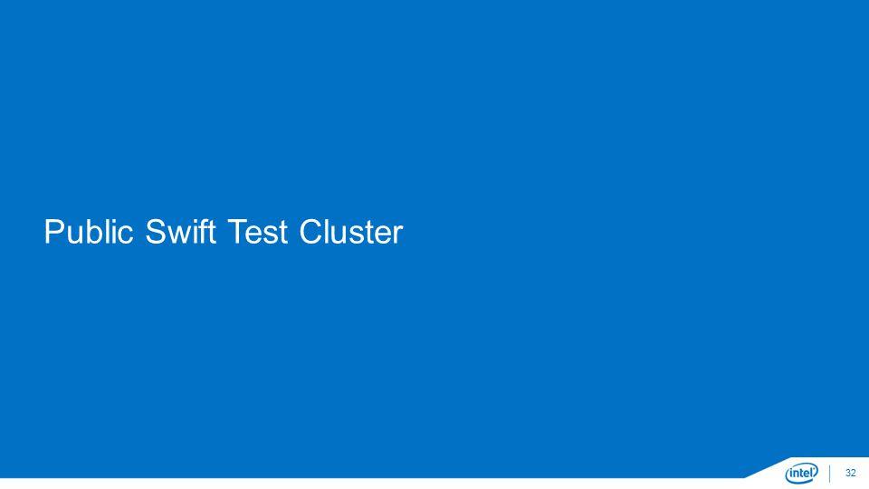 Public Swift Test Cluster