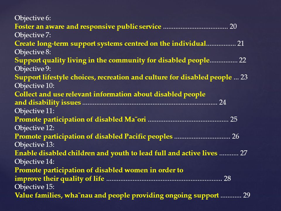 Objective 6: Foster an aware and responsive public service ..................................... 20.