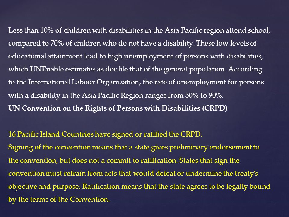Less than 10% of children with disabilities in the Asia Pacific region attend school,