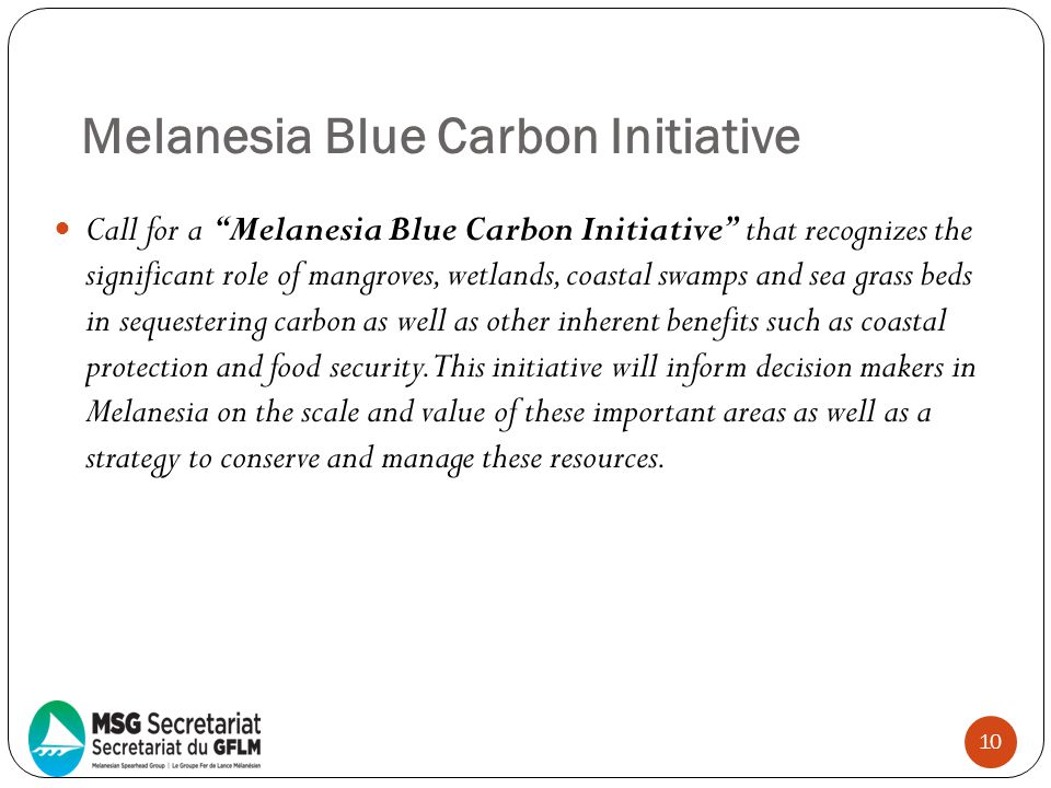 Melanesia Blue Carbon Initiative