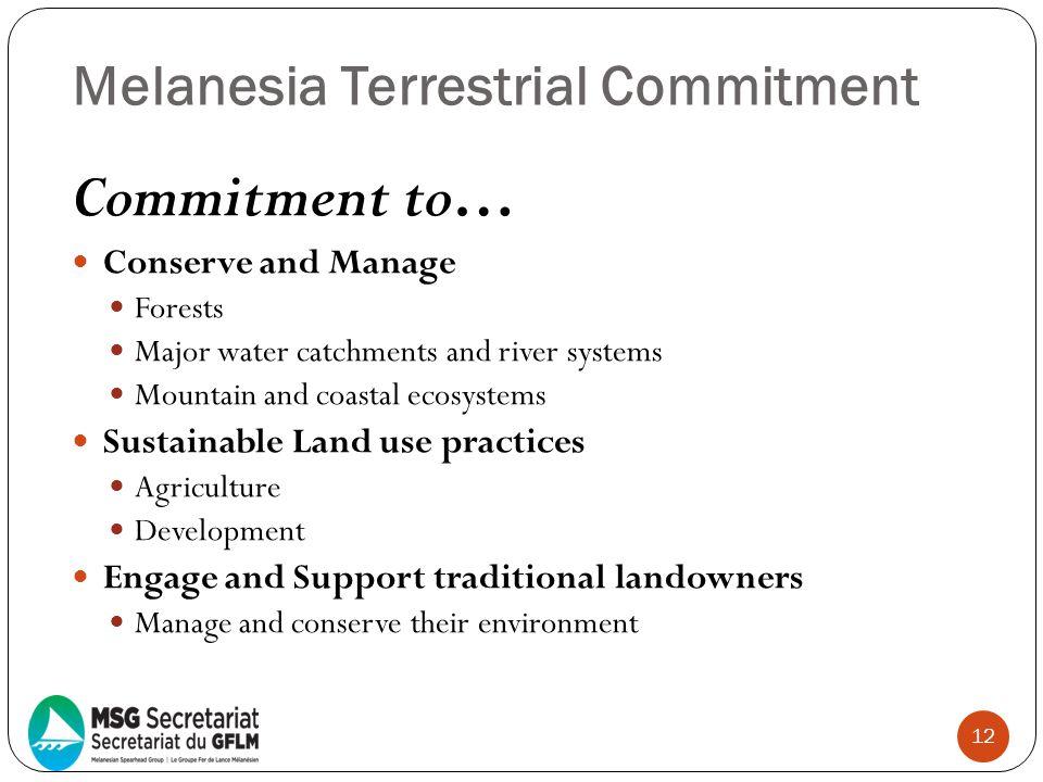 Melanesia Terrestrial Commitment