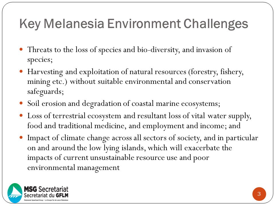 Key Melanesia Environment Challenges