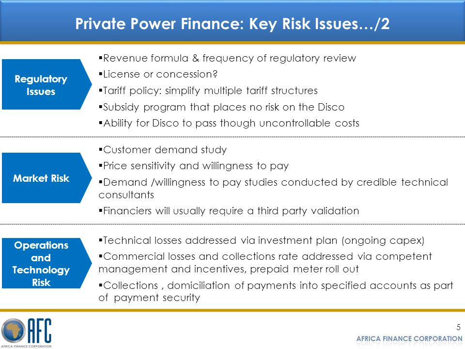 Private Power Finance: Key Risk Issues…/2