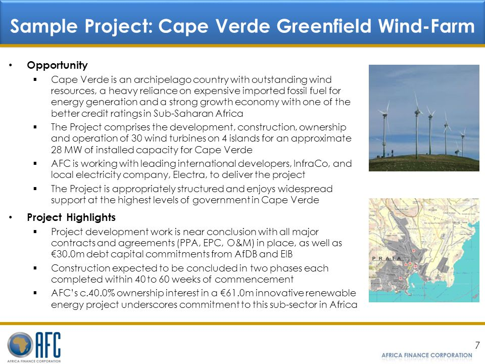Sample Project: Cape Verde Greenfield Wind-Farm