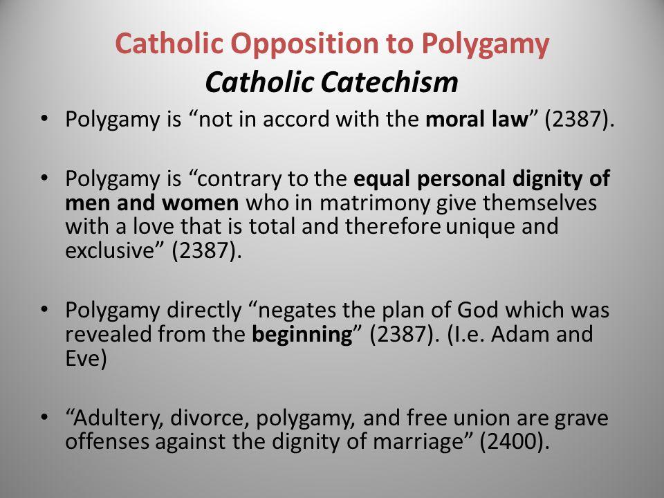 Catholic Opposition to Polygamy Catholic Catechism