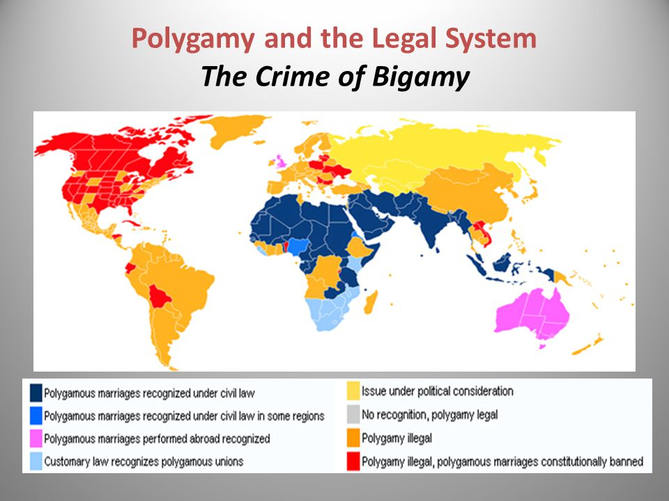 Polygamy and the Legal System The Crime of Bigamy