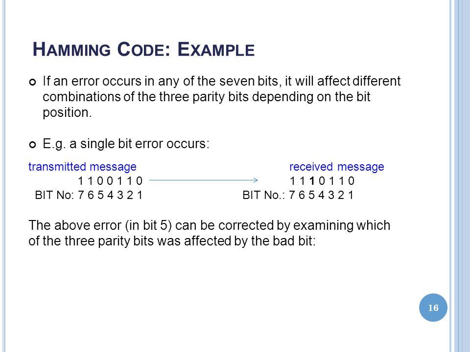 Hamming Code: Example