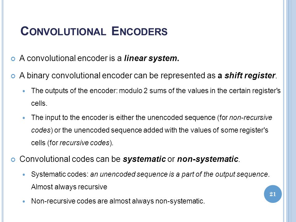 Convolutional Encoders