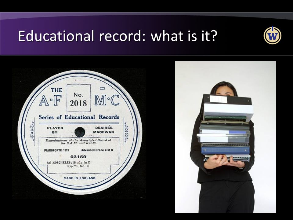 Educational record: what is it