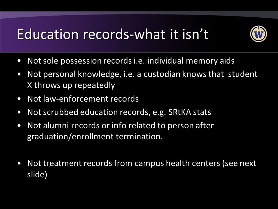 Education records-what it isn't