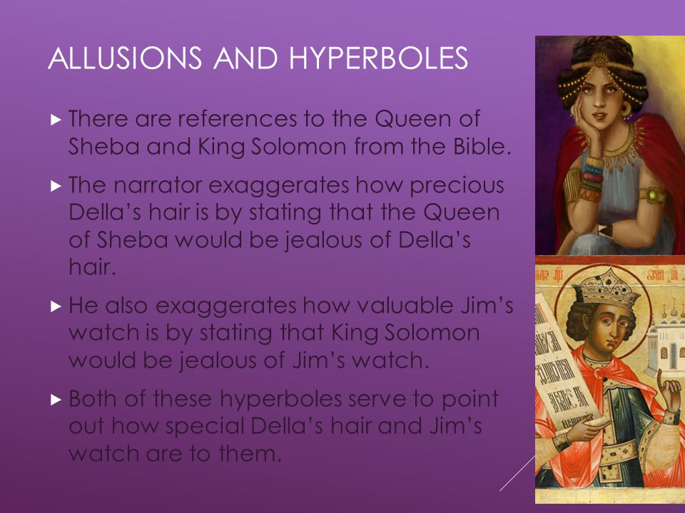 Allusions and hyperboles