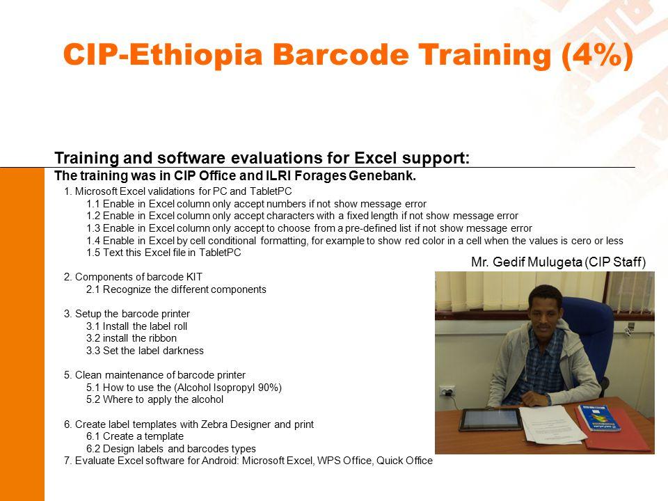 CIP-Ethiopia Barcode Training (4%)