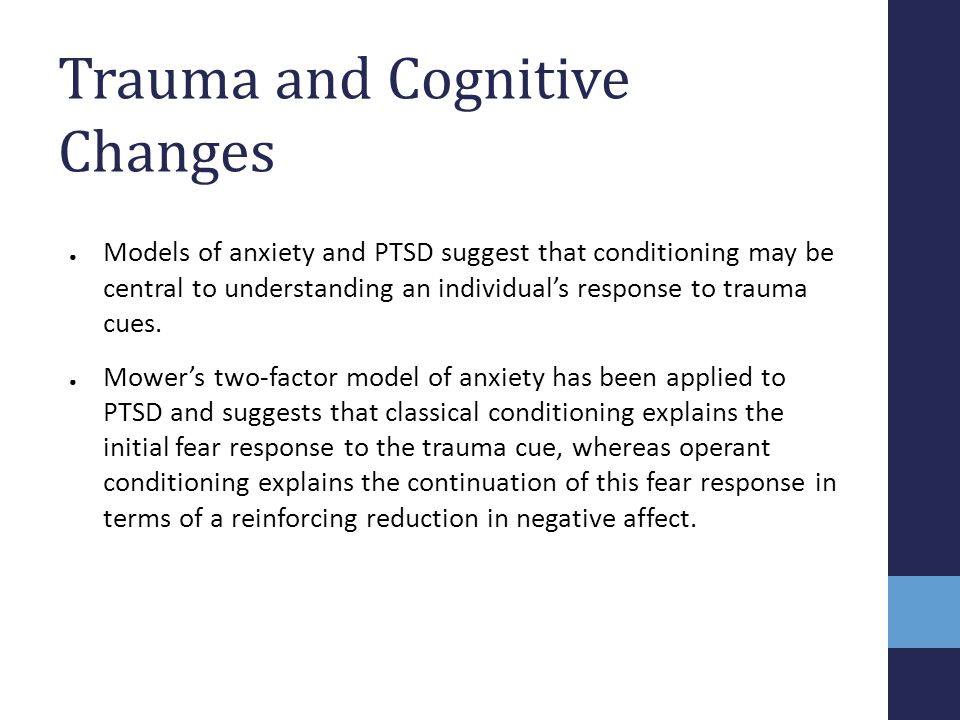 Trauma and Cognitive Changes