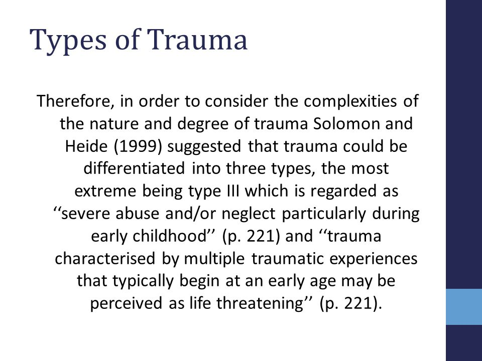 Types of Trauma