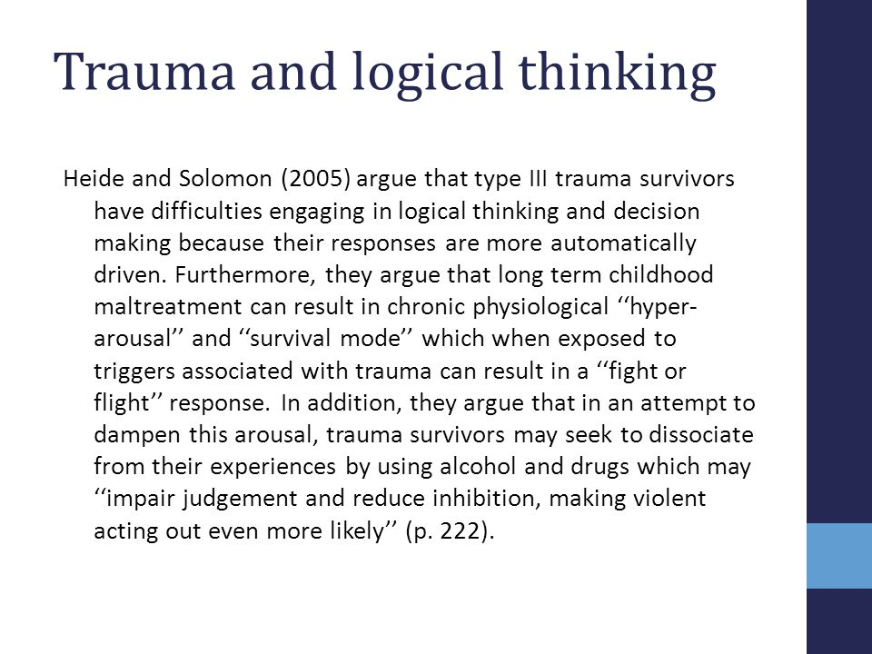 Trauma and logical thinking