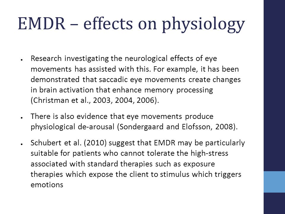 EMDR – effects on physiology