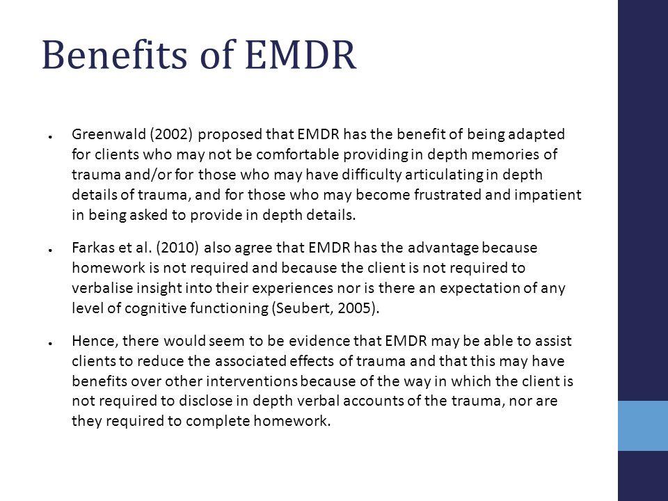 Benefits of EMDR