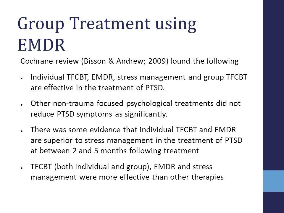 Group Treatment using EMDR
