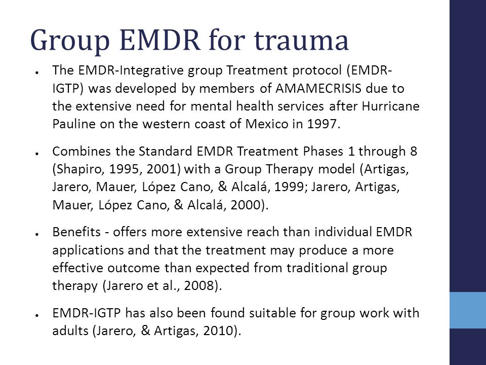 Group EMDR for trauma